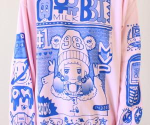 pink, kawaii, and sweater image