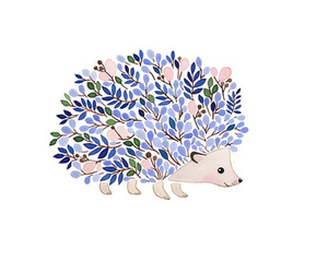 cute, flowers, and hedgehog image