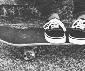 vans, skateboard, and skate image