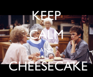 betty white, cheesecake, and food image