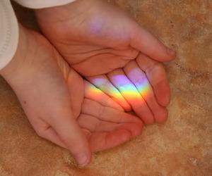 rainbow, hands, and hand image