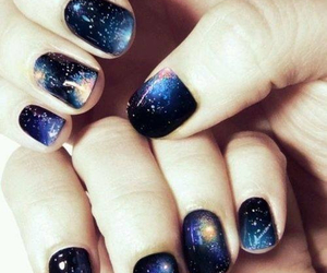 nails, galaxy, and nail art image