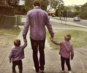 love, dad, and son image
