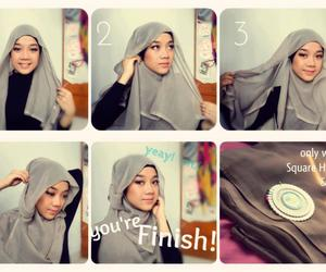 hijab, muslim, and tutorial image