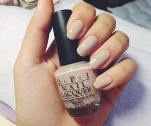 nails, opi, and Nude image