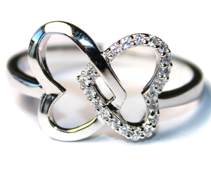 heart promise ring and 2 hearts ring image
