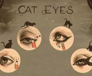 makeup, cat, and cat eyes image