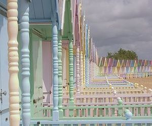 pastel, beach, and house image