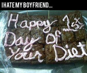 boyfriend, brownies, and lol image