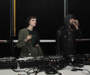 Alice Glass, group, and vintage image