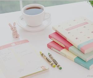 coffee, girly, and study image