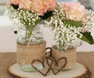 flowers, centerpiece, and diy image