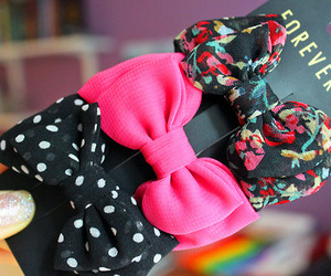 bow, forever 21, and pink image
