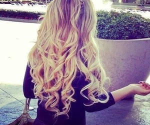 blond, curls, and girl image