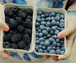 berries, blueberry, and food image