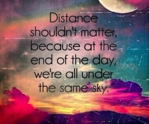 distance, love, and sky image