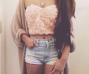 beautiful, jeans, and crop top image