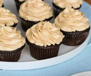 coffee, cupcakes, and cream cheese image