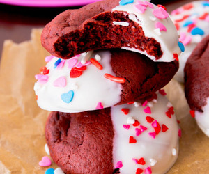 Cookies, red velvet, and white chocolate image