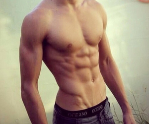 boy, sixpack, and Hot image