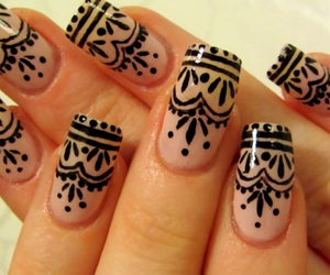 henna, indian, and nail art image
