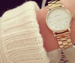 marc jacobs, gold, and watch image
