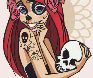 ariel, disney, and skull image