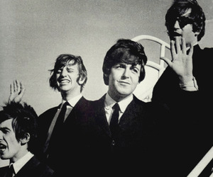 beatles, black and white, and retro image