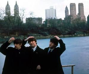 beatles, city, and retro image