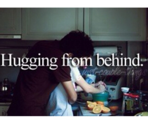 behind, from, and hugging image