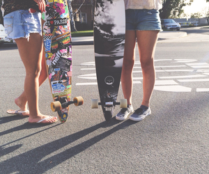 longboarding, Sunny, and bestfriends image