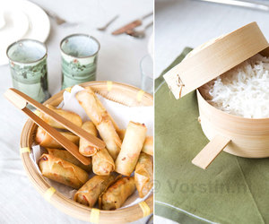 diptych, food, and rice image
