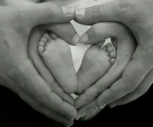 baby, heart, and life image