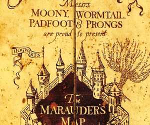 harry potter, map, and prongs image