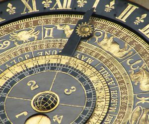 astronomy, clock, and constellation image