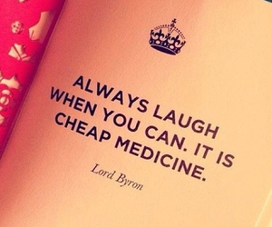 laugh, medicine, and quote image