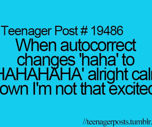 teenager post, funny, and autocorrect image