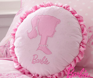 barbie, pillow, and pink image