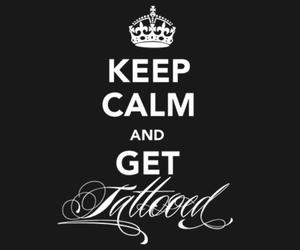 tattoo, keep calm, and tattooed image