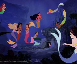 mermaid, disney, and princess image