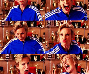 glee, sue sylvester, and face image
