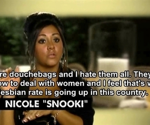 snooki, jersey shore, and lesbian image