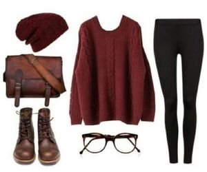 outfit, sweater, and hipster image