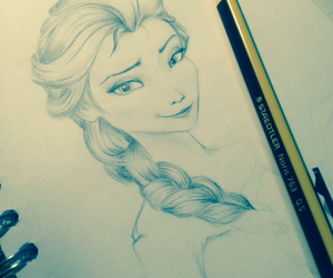 frozen, beautiful, and drawing image