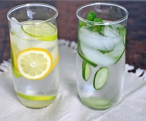 drink, lemon, and water image