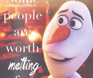frozen, olaf, and quotes image