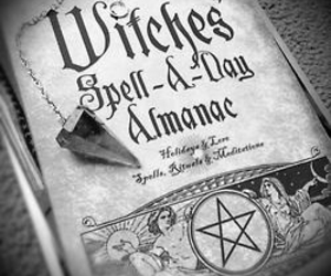 witch, book, and spell image