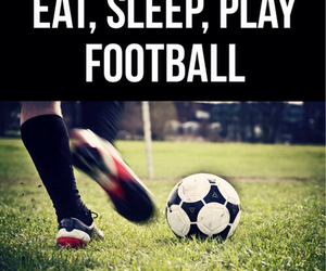 football, eat, and soccer image