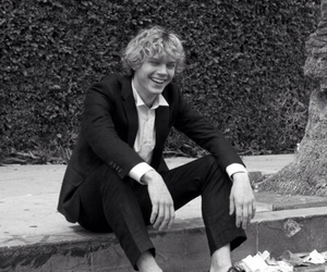 evan peters, black and white, and evan image