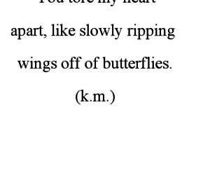 butterflies, heart broken, and pain image